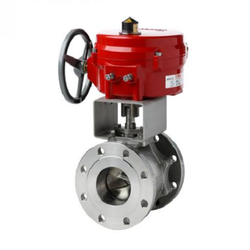 Ball Valve V-notch Actuated for Slurry Applications