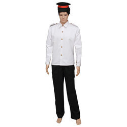 White Black Cotton Driver Uniform