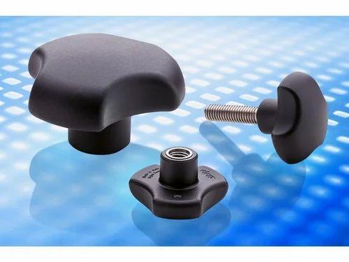 66m Diameter With M10 x 25mm Stainless Steel Threaded Stud Plastic Handwheel