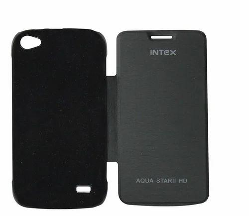 cheaper e21e3 c6256 Flip Cover For Intex Aqua Star 2 Hd (black)
