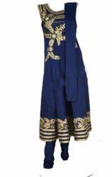 Designer Chudidhar Dark Blue Suits