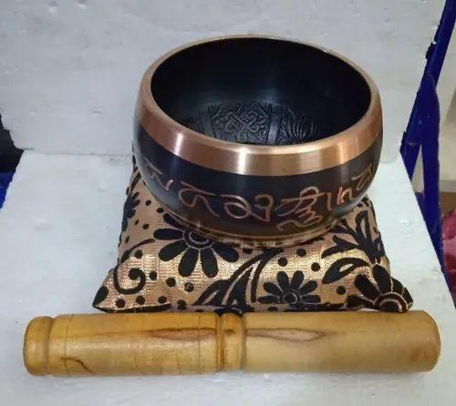 Brass Round Singing Bowl, Size: 5.5 Inch