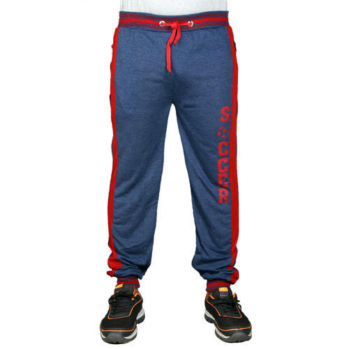 9234e47b6c Blue And Light Grey Hosiery Finger' s Men' s Cotton Track Pants With Printed