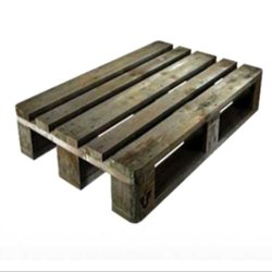 Rectangular 4 Way Babool Wood Pallet, Capacity: 100-500 kg