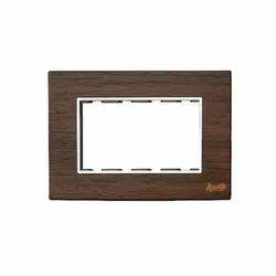 4 Module Teak Wood Modular Switch Plate
