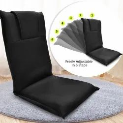 Adjustable Back and Neck Support Relax Recliner Floor Sofa Chair with Cushion