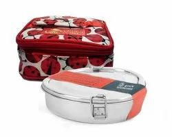 Silver Stainless Steel Heart Shape Lunch /Tiffin Box