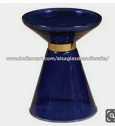 Round Cast glass center table, Size: 38 Cm