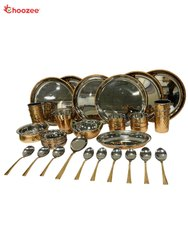 Copper / Stainless Steel Dinner Set (38 Pcs) for 6 People