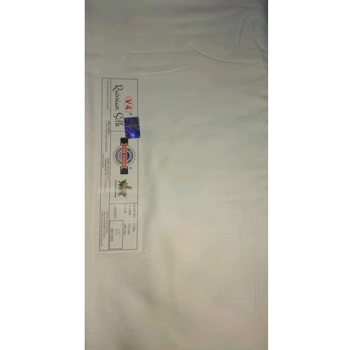 Glace Cotton Glace Half White Plain Cotton Fabric, for Dress