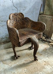 Brown Designer Antique Wooden Chair, for Home