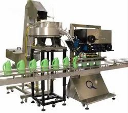 Automatic Lubricant Oil Bottle Cap Sealing Machine