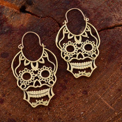 Fashion Skull Handmade Designs Hoop Earrings