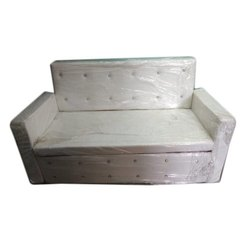 Creative Enterprises Tight Back White Leather Steel Sofa, Size: 16 To 18 Inch (seating Height)