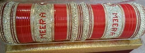 indian bridal chura at rs 3499 set bridal chura with name