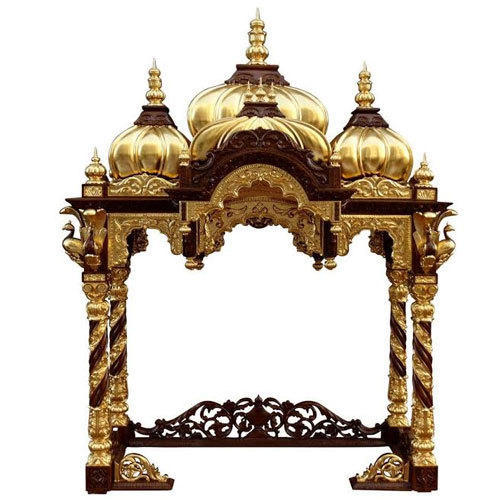 Teak Wood With Ply Wooden ISKCON Altar For Home, Rs 48000