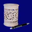 Natural White Marble Pen Stand