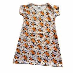 Cotton Round Neck Girls Half Sleeves Night Wear, Age Group: 10-12 Year