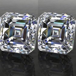 GH VVS  Asscher Moissanite Diamond