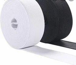Offering Polyester White Elastic Face Shield Elastics, For Belt At Meter