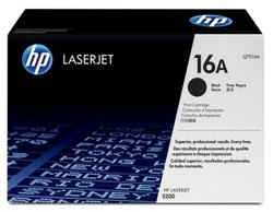 HP 16A Black Original Laser Jet Toner Cartridge (Q7516A)