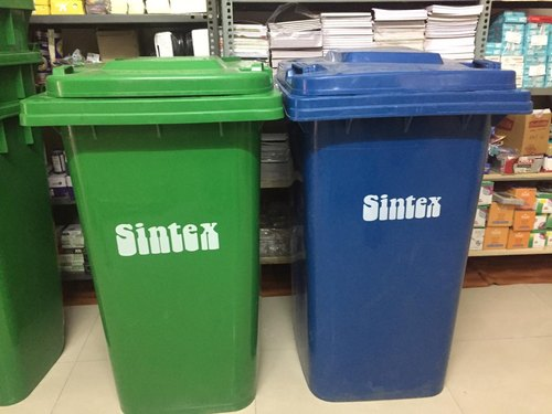 Green Standing Sintex Commercial Plastic Dustbins 240 ltr