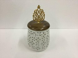 Metal Jar with Motifs