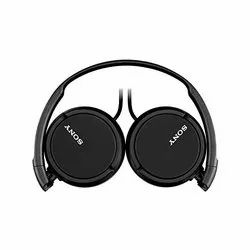 Black Sony Mdr-zx110 On-Ear Stereo Headphones, 120 G - Without Cord