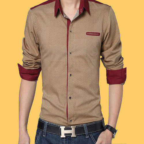 76bfc43e4e12 Men  s Plain Designer Casual Shirts