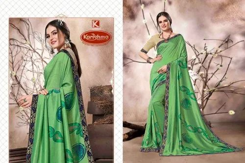 Casual Wear Printed Marble Sarees - Fiona With Blouse Piece