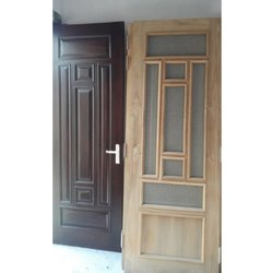 Polished Hinged Wooden Door