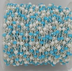 Turquoise & Pearl Chain