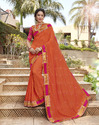 Georgette Embroidered Party Wear Saree
