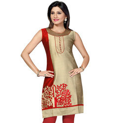 Ladies Simple Silk Kurtis