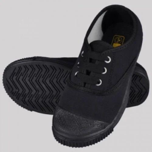 Gola Rex Tennis Black School Shoes