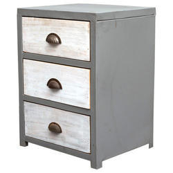 Industrial Nightstand And Bedside Table