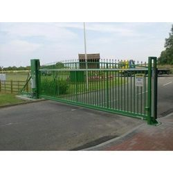 Color Coated Automatic Stainless Steel Sliding Gate