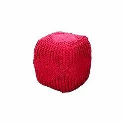 Red Ottoman Pouf Stools