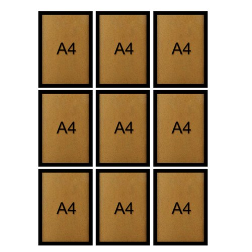 Orange A4 Certificate Wooden Frame