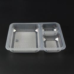 3 Compartment meal tray without lid