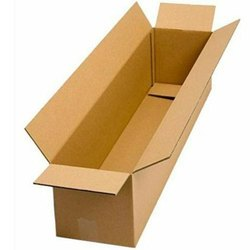 Kraft Paper Rectangular Corrugated Plain Box, Ply: 3