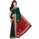 Gaji Silk Bandhani Fashionable Saree With Blouse Piece, Saree Length: 5.5 M