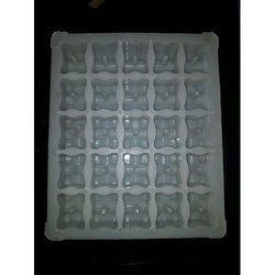 Rectangular Chequered Tile Silicone Mould
