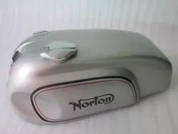 Norton Manx Triton Triumph Wideline Featherbed Sheetmetal Silver Painted Gas Fuel Petrol Tank