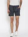 Black Cotton Shorts For Men