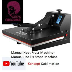 Manual Heat Press Machine- Manual Hot Fix Stone Machine