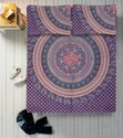 Elephant Print Ombre Mandala Double Bed Sheet