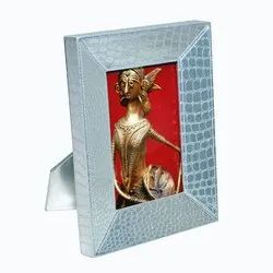 Silver Leatherette Photo Frame