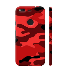 timeless design 7894a 330a7 Colorpur Camouflage Red Artwork On Google Pixel XL Cover