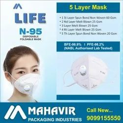 Reusable N95 Mask with Filter(Respirator), Number of Layers: 5 Layer
